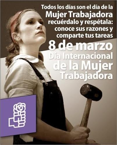 D�a Internacional de la Mujer Trabajadora, por los Derechos y la Paz Internacional