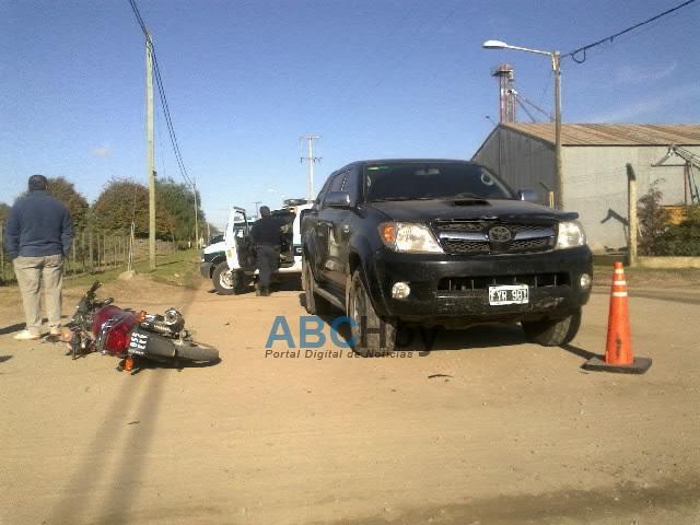 Hombre herido en accidente en Rosales y Salceda