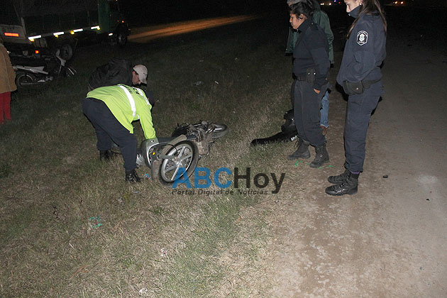 Motociclista con heridas graves en un choque en la 226