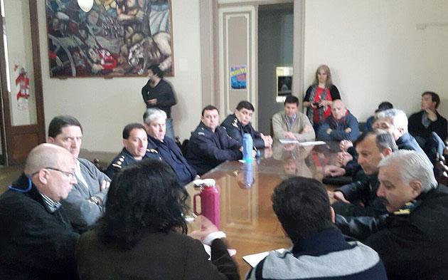 Autoridades policiales se reunieron con concejales de la Comisi�n de Seguridad