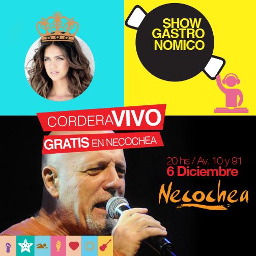 Gustavo Cordera cantar� en la inauguraci�n de temporada de Necochea