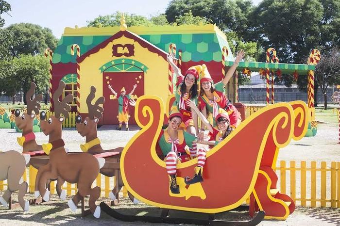 Color y fantas�a en el Parque Navide�o