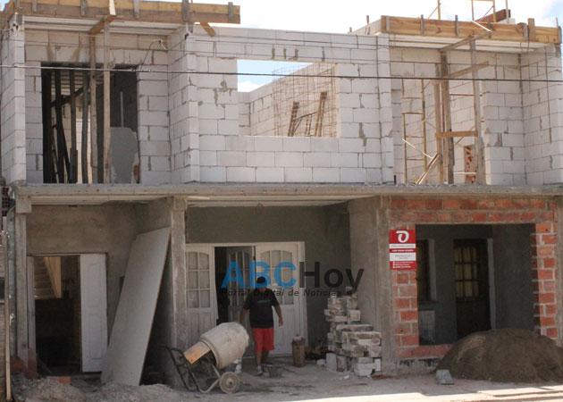 Derrumbe en una obra en construcci�n: un herido