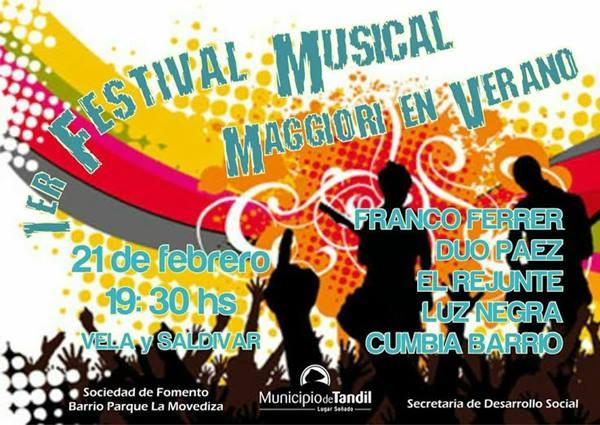 El pr�ximo s�bado se realizar� el primer Festival Musical Maggiori en verano