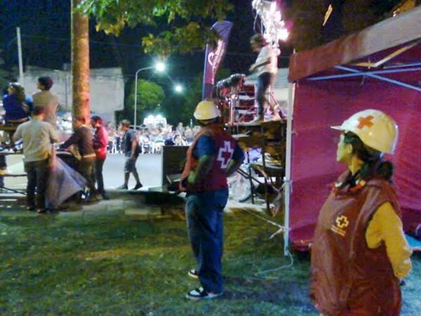 La Cruz Roja Argentina Filial Tandil asisti� a los vecinos durante los corsos