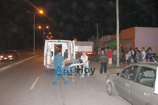 Un herido en una colisi�n en Lunghi y Azucena