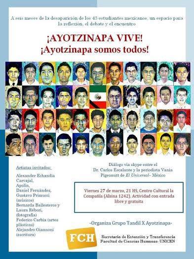 Teleconferencia de soci�logo mexicano sobre Ayotzinapa