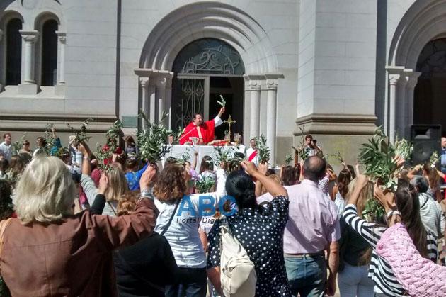 Se realiz� la misa de Domingo de Ramos