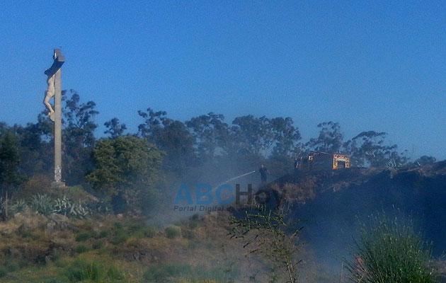 Incendio en la zona del Calvario
