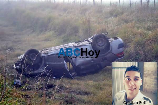 Joven polic�a perdi� la vida en accidente sobre Ruta 74