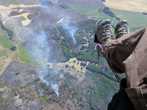 Fotos del incendio a los Campos de Anchorena en Azucena