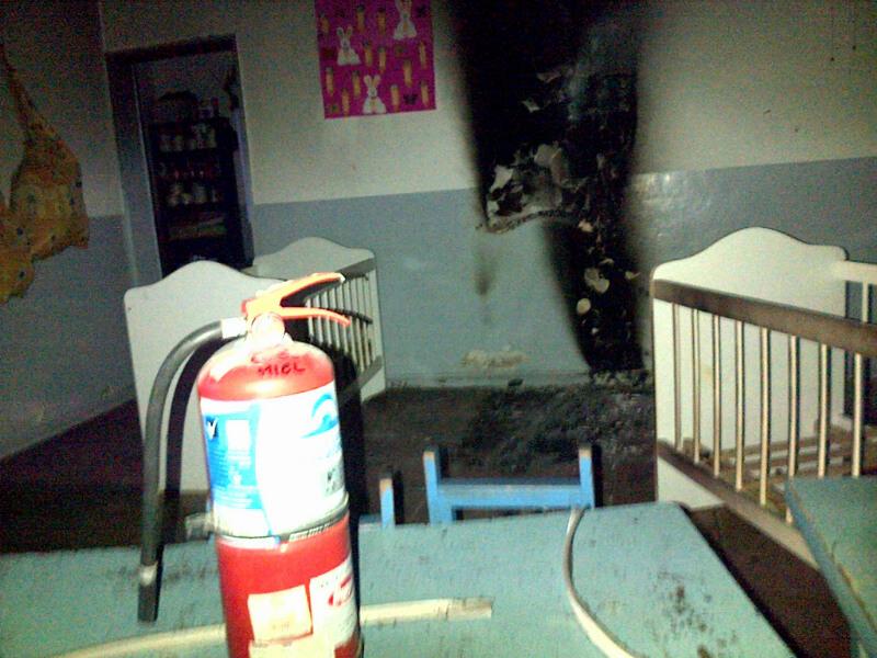 Fuego y susto en el Centro de Atenci�n Integral �Mater�