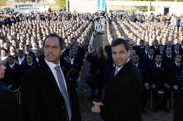 Scioli inaugur� ampliaci�n de la escuela descentralizada de polic�a del Partido de la Costa