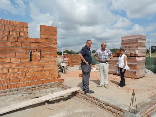 Lunghi y Civalleri supervisaron los avancen en la obra del Centro C�vico