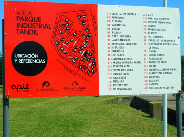 El Parque Industrial de Tandil tiene nueva carteler�a indentificatoria