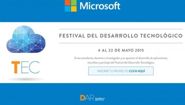 DAR y Microsoft abrieron la inscripci�n para Festival del Desarrollo Tecnol�gico