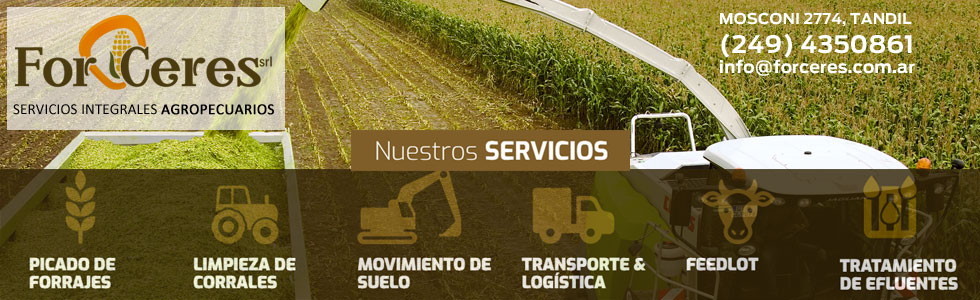 For Ceres - Servicios integrales Agropecuarios | MOSCONI 2774 | TANDIL | Tel.(249) 435 0861 | info@forceres.com.ar