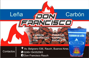 Barraca Don Francisco - Av. Belgrano 536 - Rauch - Tel (249) 435-2563